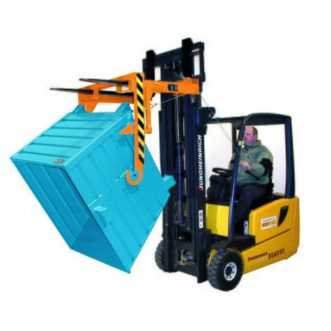Travessa para recipientes basculantes empilháveis, volume 1,5m³