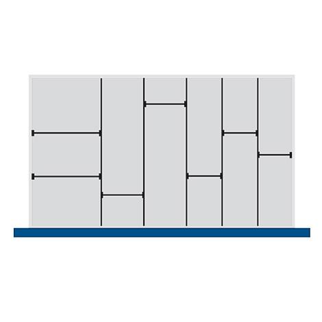 Trenn- und Steckwände für Schubladenmaß BxT mm: 1050x650