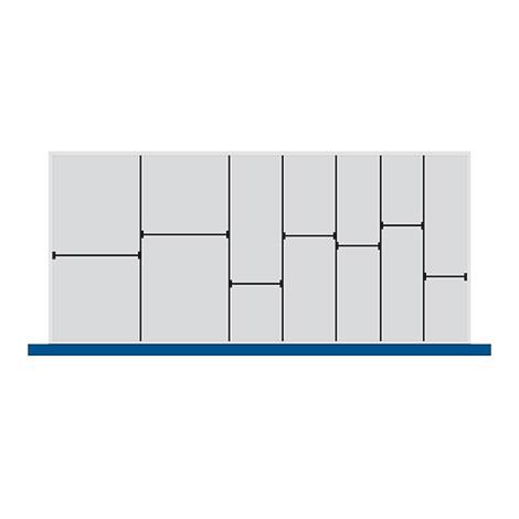 Trenn- und Steckwände für Schubladenmaß BxT mm: 1300x650