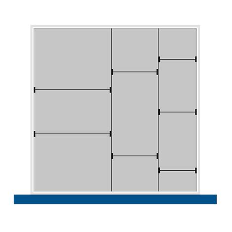 Trenn- und Steckwände für Schubladenmaß BxT mm: 650x650