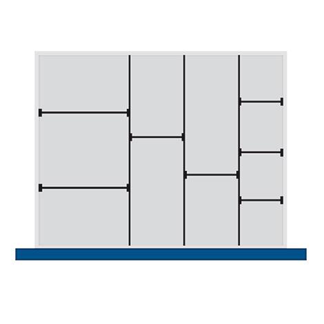 Trenn- und Steckwände für Schubladenmaß BxT mm: 800x650