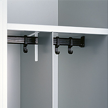 Trennwand aus Stahl für Garderobenschrank