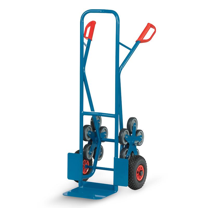 Treppenkarre aus Stahl mit 5-armigen Rad-Sternen. Tragkraft 200kg
