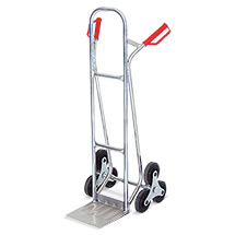 Treppenkarre BASIC aus Aluminium. 3-armiger Radstern. Vollgummibereifung