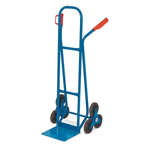 Treppenkarre BASIC aus Stahlrohr. 3-armiger Radstern. Vollgummireifen