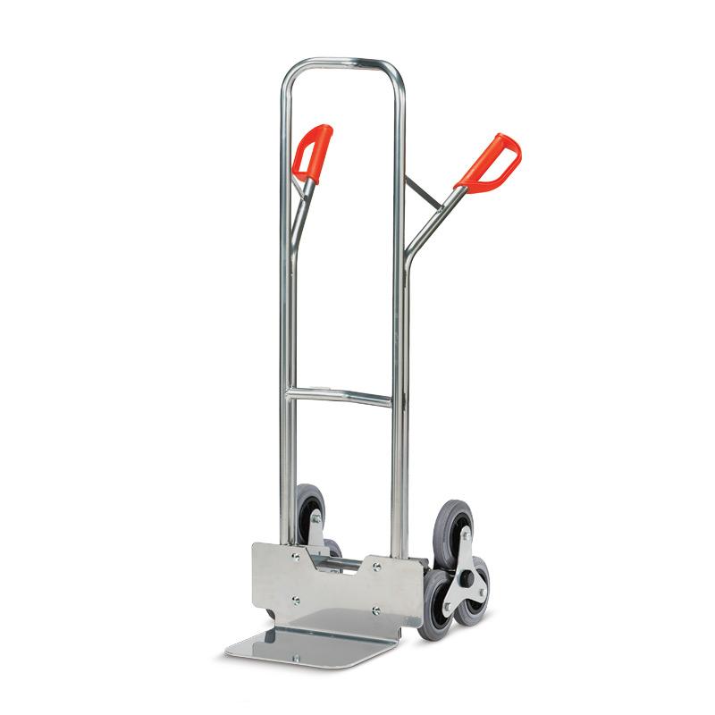 Treppenkarre fetra® aus Aluminium mit 3-armigen Rad-Sternen. Tragkraft 200kg