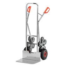 Treppenkarre fetra® aus Aluminium mit 5-armigen Rad-Sternen. Tragkraft 200kg