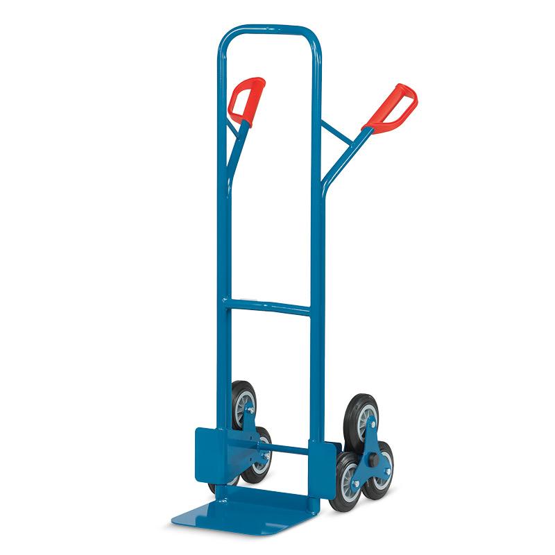 Treppenkarre fetra® aus Stahl mit 3-armigen Rad-Sternen. Tragkraft 200kg