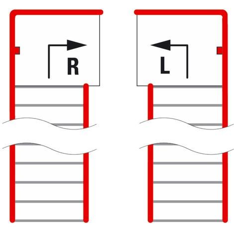 Treppenpodest für Lagerbühnen-Modulsystem, Austritt links