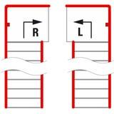 Treppenpodest für Lagerbühnen-Modulsystem, Austritt rechts