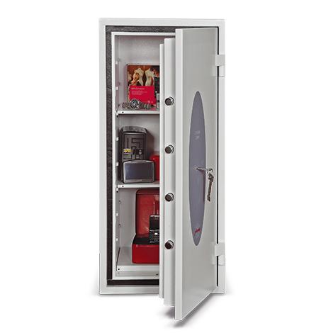 Tresor mit 30 min Feuerschutz. Höhe  31,5 bis 95 cm