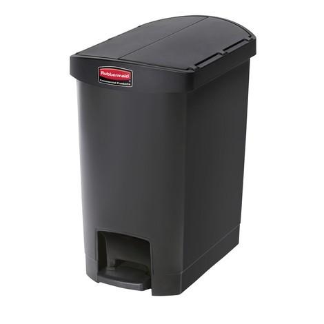 Tret-Abfallbehälter Rubbermaid Slim Jim®, Kunststoff, Pedal an der Schmalseite