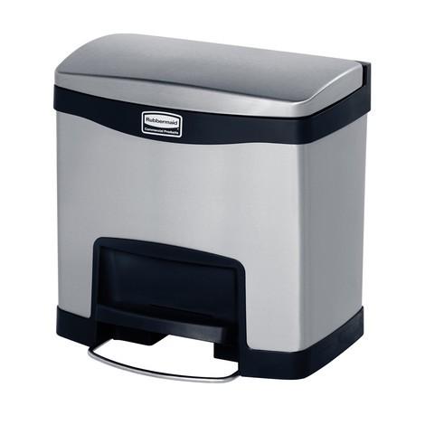 Tret-Abfallbehälter Rubbermaid Slim Jim®, Metall
