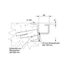 Trilho de guia para pontes dobráveis com proteção manual contra quedas
