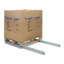 Trilho de rolos de paletes, aço, capacidade de carga 150 kg
