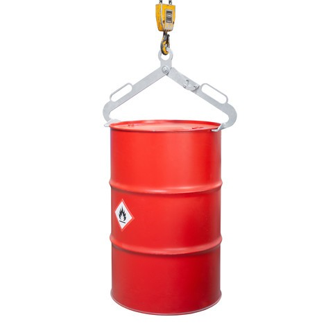 Trommelgrijper LGZ voor staande 200-liter staalplaat en stalen dekselvaten