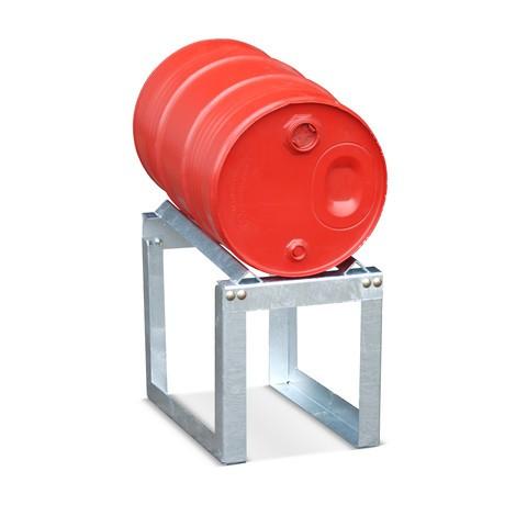 Trommestativ med vinkelstøtte, 2x200 liter