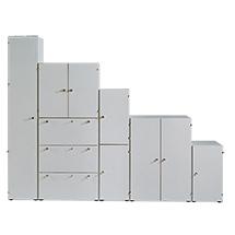 Tür für Büroregale mit bis zu 5 Böden. Breite bis 800 mm, Höhe bis 2160 mm