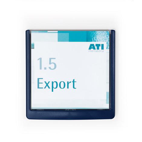 Türschild CLICK SIGN im Format 149 x 148,5 mm, 5 Stück (inkl. Montagematerial)