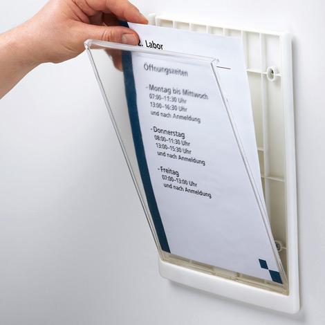 Türschild CLICK SIGN im Format DIN A4, 5 Stück (inkl. Montagematerial)