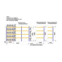 Typ 4 Regał podstawowy wys. 5500 mm, dł. 8400 mm, składowanie 0+4