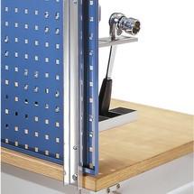 Uchwyt do mocowania płyt z otworami do stołów warsztatowych