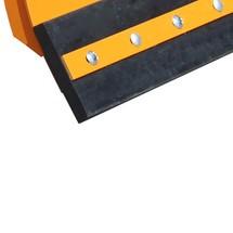Udskiftning gummiskrabeliste til gaffeltruck-snerydder Profi