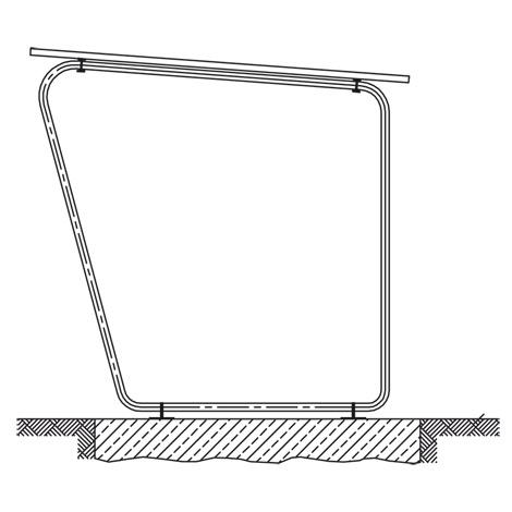 Überdachung BASIC. Grundfeld, Breite 2145 mm