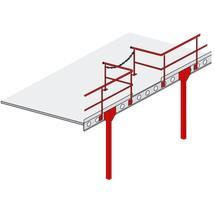 Übergabestation für Lagerbühnen-Modulsystem