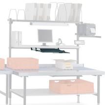 Uitschuifbare toetsenbord- en muislade voor verpakkingstafelsysteem