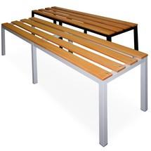 Umkleidesitzbank Ameise® mit Sitzfläche aus Hartholz