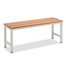 Umkleidesitzbank BASIC mit Holzlatten. Länge 1000 bis 2000 mm