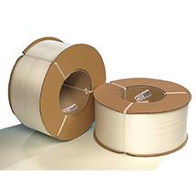 Umreifungsband aus Polypropylen mit Prägeverfahren. Kern-Ø 200mm, Breite 16mm
