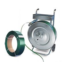 Umreifungskraftband aus Polyester (PET) gewebt. Kern-Ø 76mm, Breite bis 19mm