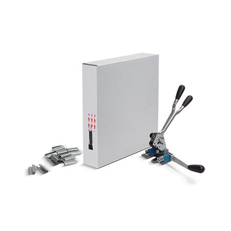 Umreifungsset BASIC mit PP- Kunststoffband, 2 Breiten zur Auswahl