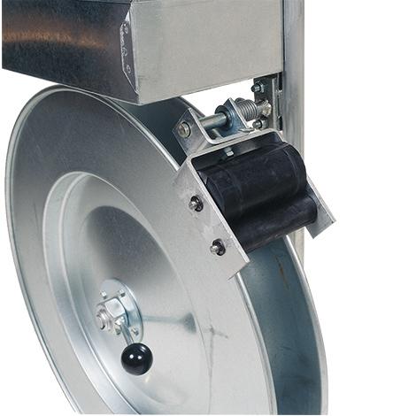 Umreifungsset mit Stahlband + Abrollwagen. Hülsenlos, inkl. Bandablaufbremse