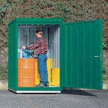 Umweltcontainer für aktive Lagerung brennbarer Stoffe