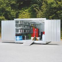 Umweltcontainer für passive Lagerung brennbarer Stoffe