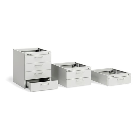 Under-bench drawer unit for ergonomic workstation system