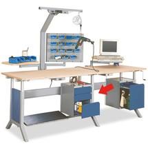 Unterbauschrank mit 3 Schubladen für Arbeitsplatzsystem Tisch, HxBxT 500 x 370 x 400 mm