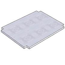 Unterplatte für Tischwagen. Breite bis 1500 mm