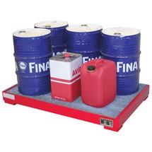 Uppsamlingstråg i stål för 60-litersfat