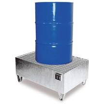 Uppsamlingstråg i stål, underkörningshöjd 100 mm