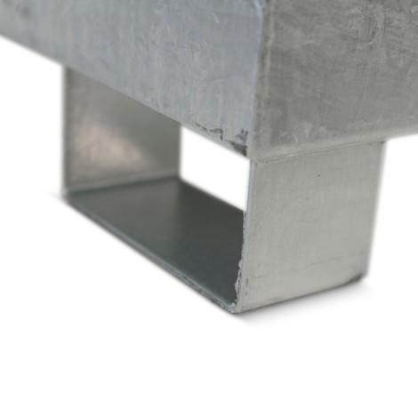 Uppsamlingstråget Steinbock® av stål för KTC/IBC, kan användas med pallyftare och truck