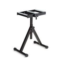Valčekový stojan pre podávače materiálu, s guľovým stolíkom