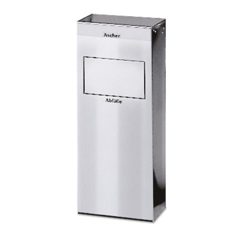 VAR® ashtray/waste bin combination, stainless steel, 21 litres