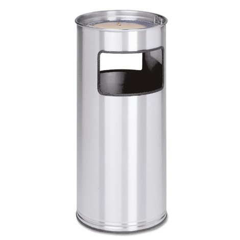 VAR® ashtray/waste bin combination, stainless steel, pedestal model