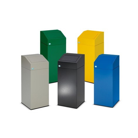 VAR® recycling container, self-closing, made from galvanised and powder-coated steel