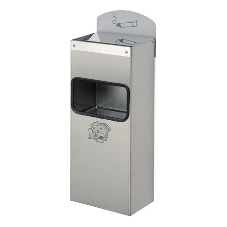 VAR® wall ashtray, combi model