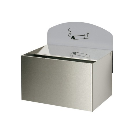 VAR® wall ashtray, stainless steel